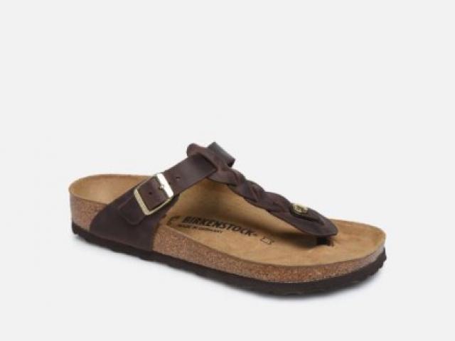 nue pied en cuir BIRKENSTOCK  tout confort avec voute plantaire
