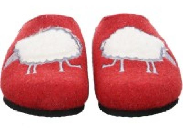 pantoufle cosy ARA rouge