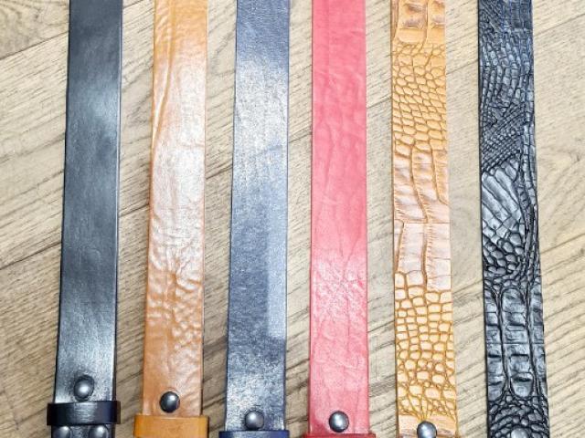 Ceintures made in France cuir pleine fleur avec boucles interchangeables