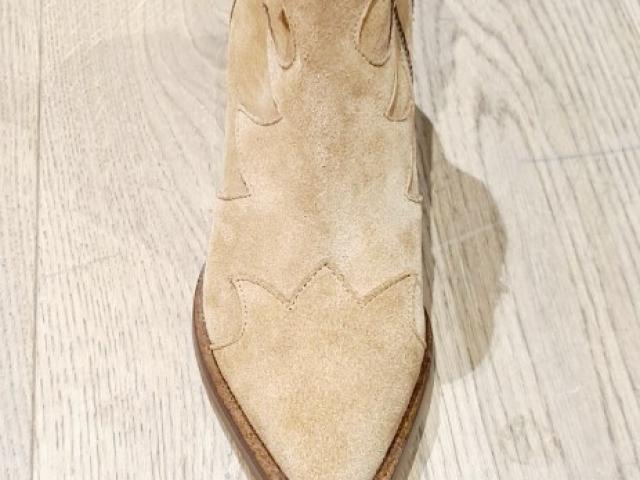 bottine Bisous Confiture cuir de haute qualité.