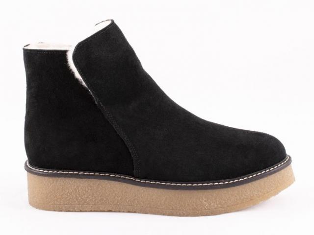 chaussure sheperd 100% naturel cuir laine de mouton  Nicki Ankel Boots