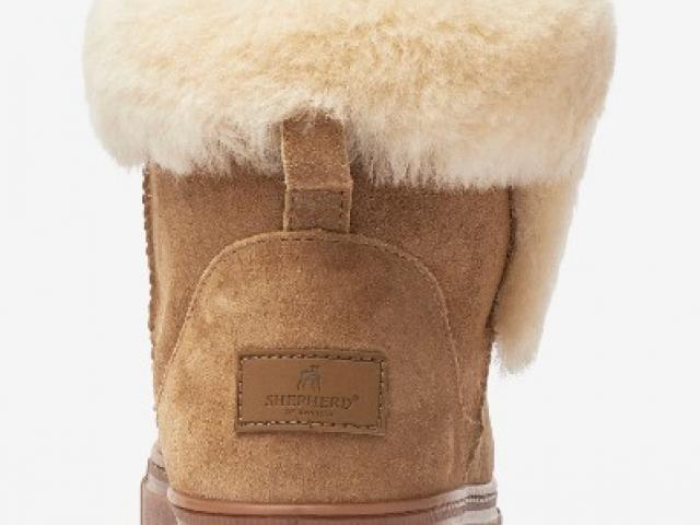 chaussure sheperd 100% naturel cuir doublé mouton ( Bibbi)