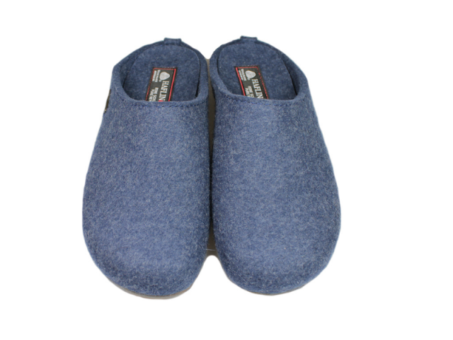 Chausson Slippers Everest Fundus bleu de la marque Haflinger