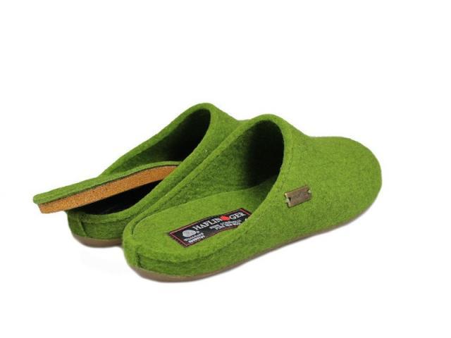 Chausson Slippers Everest Fundus vert de la marque Haflinger