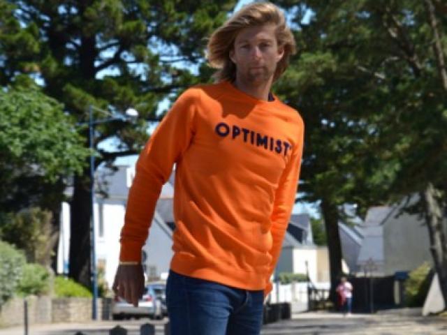 Sweat Optimist' Homme et Femme fabrication française