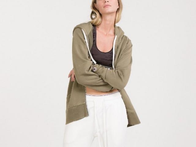 sweat a capuche zippé Sweet Pants matériaux naturelle tout confort