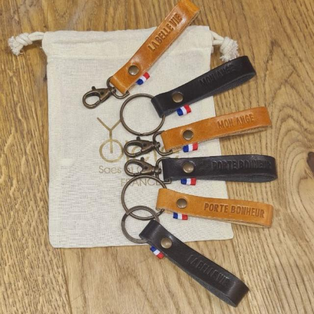 Porte clefs Yolette conçues pour les pieds des Anges avec message