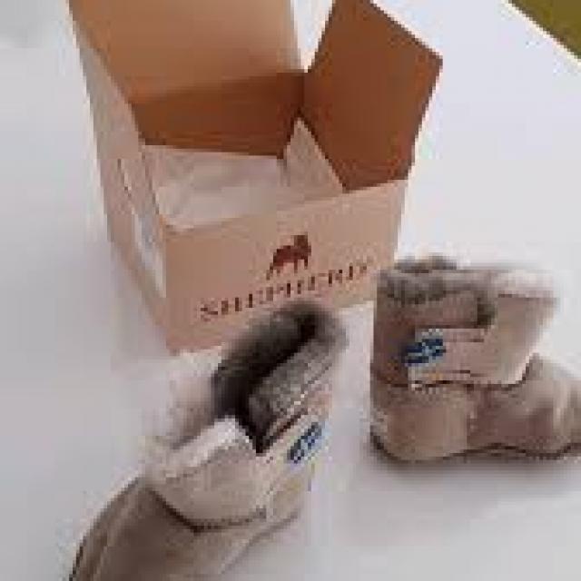 Pantoufles enfants de qualité supérieure 100 % naturelles Norvège bora
