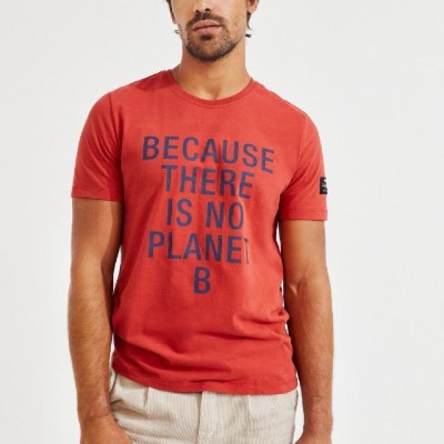 T-shirt  Ecoalf message , coton biologique et recyclé